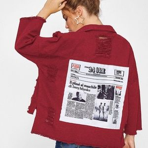 Jackets & Blazers - DISTRESSED JACKET DISTRESSED COAT